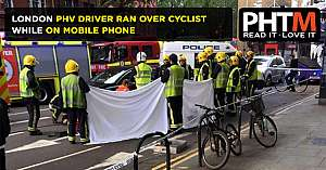 LONDON PHV DRIVER RAN OVER CYCLIST WHILE ON MOBILE PHONE