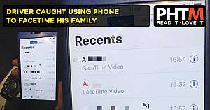 DRIVER CAUGHT USING PHONE TO FACETIME HIS FAMILY