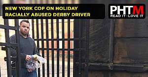 NEW YORK COP ON HOLIDAY RACIALLY ABUSED DERBY DRIVER