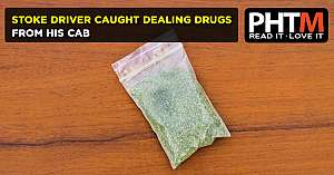 STOKE DRIVER CAUGHT DEALING DRUGS FROM HIS CAB