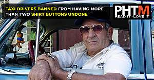 TAXI DRIVERS BANNED FROM HAVING MORE THAN TWO SHIRT BUTTONS UNDONE
