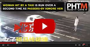 WOMAN HIT BY A TAXI IS RUN OVER A SECOND TIME AS PASSERS BY IGNORE HER