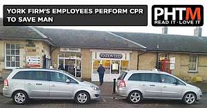 YORK FIRMS EMPLOYEES PERFORM CPR TO SAVE MAN