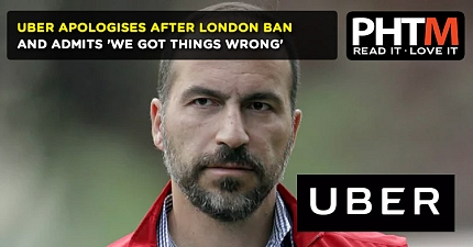 UBER APOLOGISES AFTER LONDON BAN AND ADMITS WE GOT THINGS WRONG
