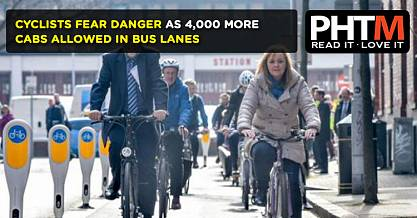 CYCLISTS FEAR DANGER AS 4000 MORE CABS ALLOWED IN BUS LANES