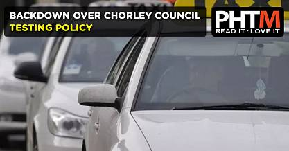BACKDOWN OVER CHORLEY TESTING POLICY
