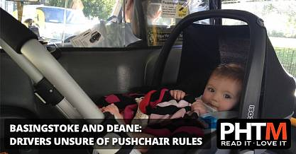 BASINGSTOKE AND DEANE DRIVERS UNSURE OF PUSHCHAIR RULES