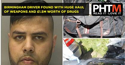 BIRMINGHAM DRIVER FOUND WITH HUGE HAUL OF WEAPONS AND 1.5M WORTH OF DRUGS