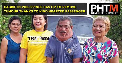 CABBIE IN PHILIPPINES HAS OP TO REMOVE TUMOUR THANKS TO KIND HEARTED PASSENGER