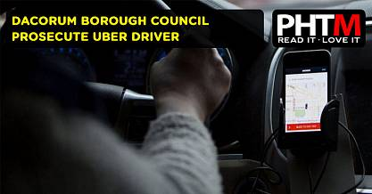 DACORUM BOROUGH COUNCIL PROSECUTE UBER DRIVER
