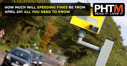 HOW MUCH WILL SPEEDING FINES BE FROM APRIL 24