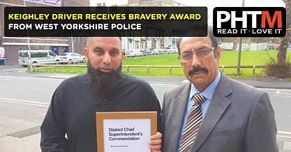 KEIGHLEY DRIVER RECEIVES BRAVERY AWARD FROM WEST YORKSHIRE POLICE