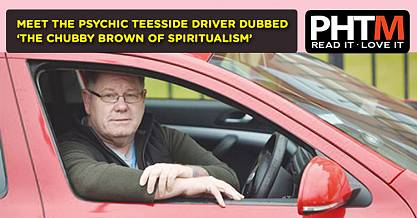 MEET THE PSYCHIC TEESSIDE DRIVER DUBBED THE CHUBBY BROWN OF SPIRITUALISM