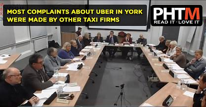 MOST COMPLAINTS ABOUT UBER IN YORK WERE MADE BY OTHER TAXI FIRMS