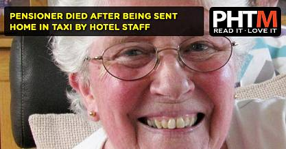 PENSIONER DIED AFTER BEING SENT HOME IN TAXI BY HOTEL STAFF