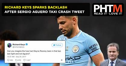 RICHARD KEYS SPARKS BACKLASH AFTER SERGIO AGUERO TAXI CRASH TWEET
