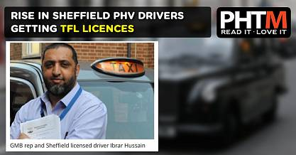 RISE IN SHEFFIELD PHV DRIVERS GETTING TFL LICENCES