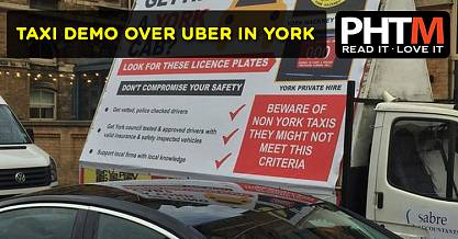 TAXI DEMO OVER UBER IN YORK