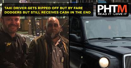TAXI DRIVER GETS RIPPED OFF BUT BY FARE DODGERS BUT STILL RECEIVES CASH IN THE END