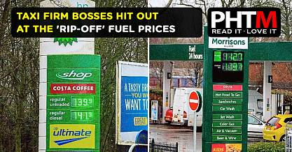 TAXI FIRM BOSSES HIT OUT AT THE RIP OFF FUEL PRICES