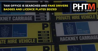 TAXI OFFICE IS SEARCHED AND FAKE DRIVERS BADGES AND LICENCE PLATES SEIZED