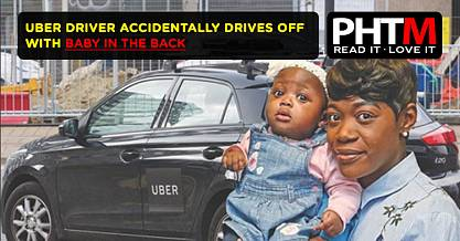 UBER DRIVER ACCIDENTALLY DRIVES OFF WITH BABY IN THE BACK