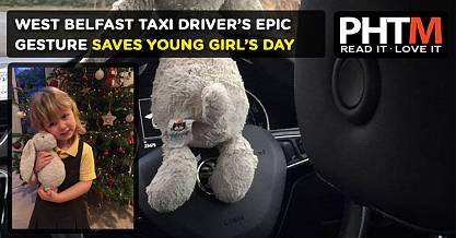 WEST BELFAST TAXI DRIVERS EPIC GESTURE SAVES YOUNG GIRLS DAY