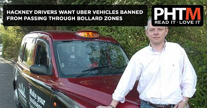 HACKNEY DRIVERS CALLING FOR UBER VEHICLES TO BE BANNED FROM PASSING THROUGH BOLLARD ZONES