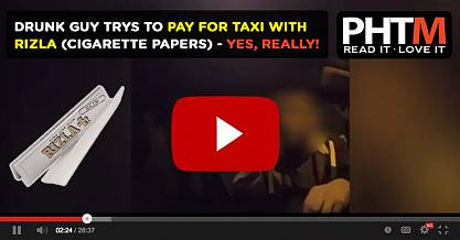 DRUNK GUY TRYS TO PAY FOR TAXI WITH RIZLA CIGARETTE PAPERS YES REALLY