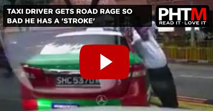 TAXI DRIVER GETS ROAD RAGE SO BAD HE HAS A STROKE