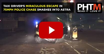 TAXI DRIVERS MIRACULOUS ESCAPE AFTER TEENAGER IN 75MPH POLICE CHASE SMASHES INTO ASTRA