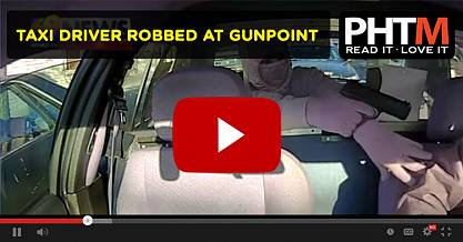 TAXI DRIVER ROBBED AT GUNPOINT