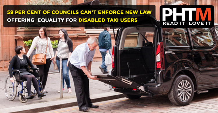 59 PER CENT OF COUNCILS CAN'T ENFORCE NEW LAW OFFERING  EQUALITY FOR DISABLED TAXI USERS