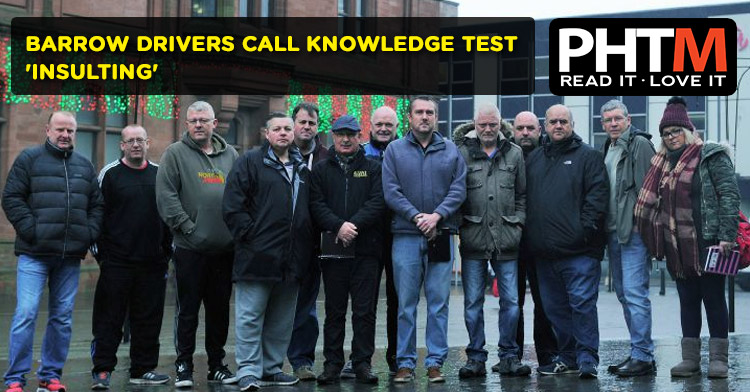 BARROW DRIVERS CALL KNOWLEDGE TEST 'INSULTING'