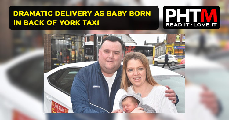 DRAMATIC DELIVERY AS BABY BORN IN BACK OF YORK TAXI