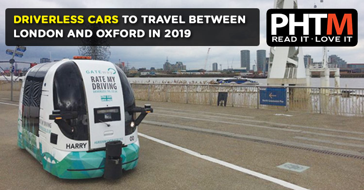 DRIVERLESS CARS TO TRAVEL BETWEEN  LONDON AND OXFORD IN 2019