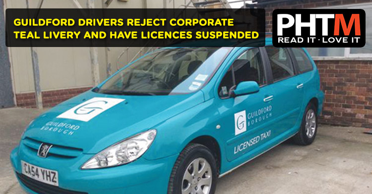 GUILDFORD DRIVERS REJECT CORPORATE TEAL LIVERY AND HAVE LICENCES SUSPENDED