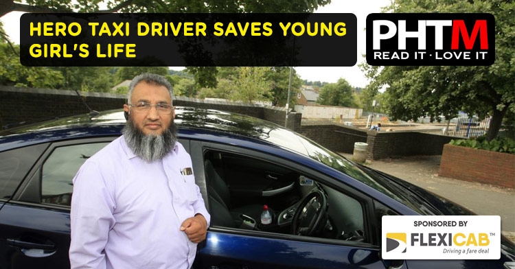HERO TAXI DRIVER SAVES YOUNG GIRL'S LIFE