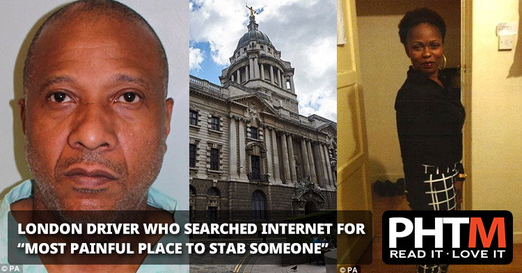 "LONDON DRIVER WHO SEARCHED INTERNET FOR ""MOST PAINFUL PLACE TO STAB SOMEONE"""