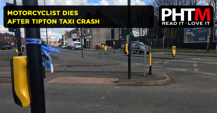 MOTORCYCLIST DIES AFTER TIPTON TAXI CRASH