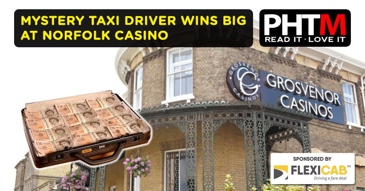 MYSTERY TAXI DRIVER WINS BIG AT NORFOLK CASINO
