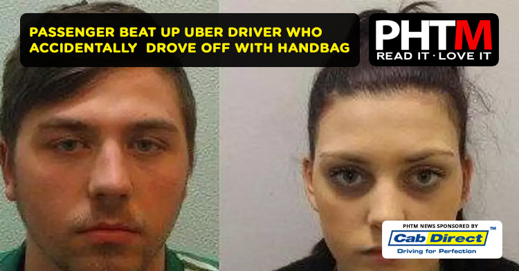 PASSENGER BEAT UP UBER DRIVER WHO ACCIDENTALLY  DROVE OFF WITH HANDBAG