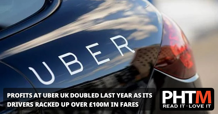 PROFITS AT UBERS UK ARM DOUBLED LAST YEAR AS ITS DRIVERS RACKED UP MORE THAN 100M IN FARES