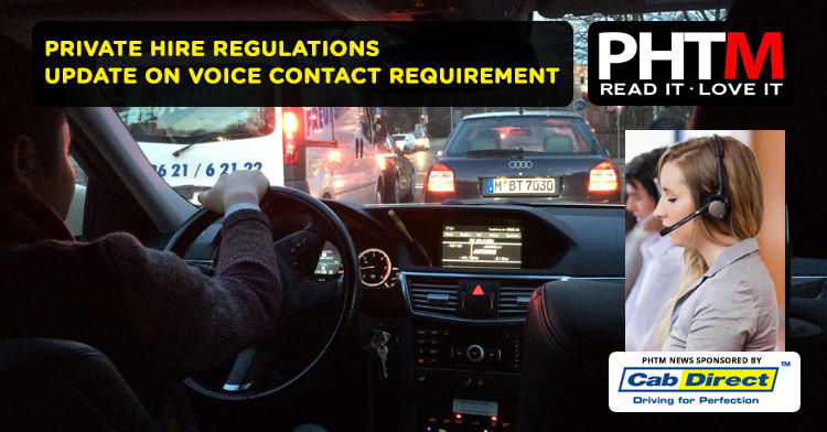 Private Hire Regulations - Update on Voice Contact Requirement