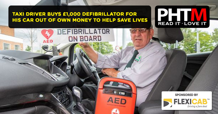 TAXI DRIVER BUYS £1,000 DEFIBRILLATOR FOR HIS CAR OUT OF OWN MONEY TO HELP SAVE LIVES
