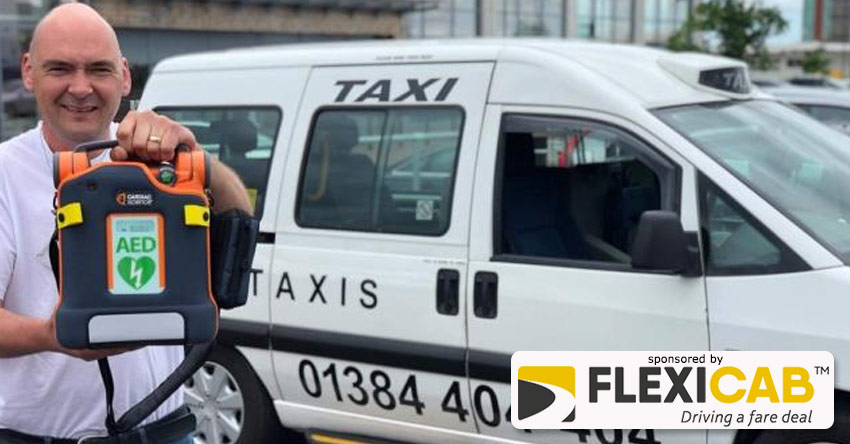 TAXI FIRM FIRST TO HAVE LIFE-SAVING DEFIBRILLATOR IN FLEET