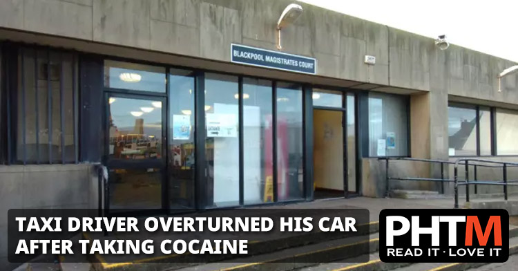 TAXI DRIVER OVERTURNED HIS CAR AFTER TAKING COCAINE