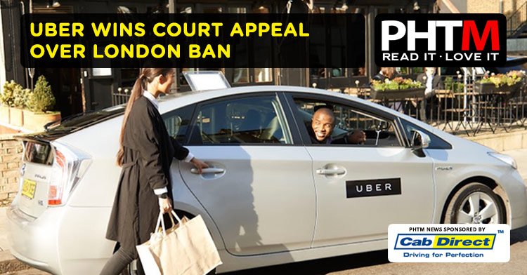 UBER WINS COURT APPEAL OVER LONDON BAN