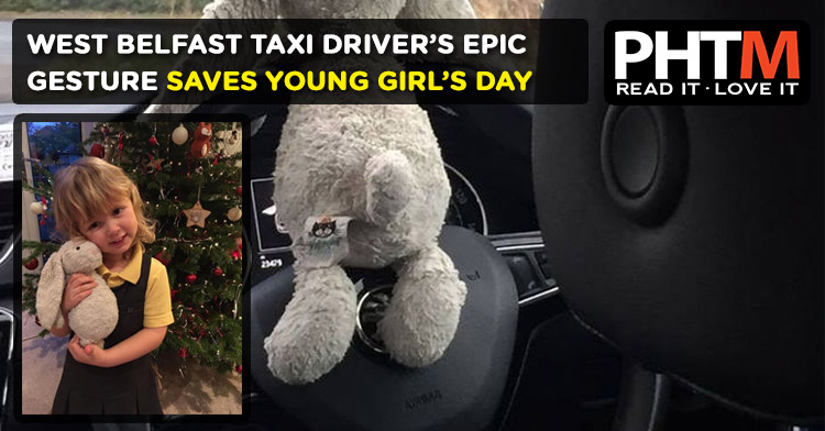 WEST BELFAST TAXI DRIVER'S EPIC GESTURE SAVES YOUNG GIRL'S DAY