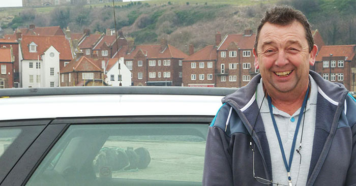 HERO WHITBY DRIVER SAVES MAN IN HARBOUR